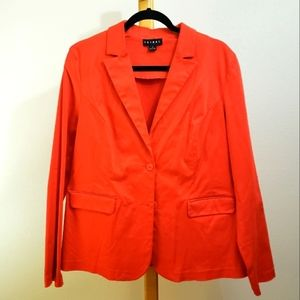 Tribal hot red stretch brushed cotton blazer